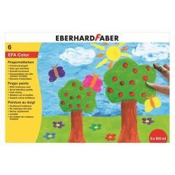 Tempera Faber Castell - Efacolor - colori a dita - nero, rosso, blu, verde, giallo, bianco 578806