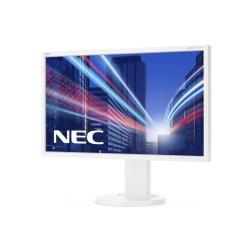 """Écran LED NEC MultiSync E243WMI-WH - Écran LED - 23.8"""" (23.8"""" visualisable) - 1920 x 1080 Full HD (1080p) - IPS - 250 cd/m² - 1000:1 - 6 ms - DVI-D, VGA, DisplayPort - blanc"""