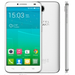 """Smartphone Alcatel One Touch Idol 2 6037K - Smartphone - double SIM - 3G - 16 Go - GSM - 5"""" - 960 x 540 pixels - IPS - 8 MP (caméra avant de 2 mégapixels) - Android - blanc uni"""