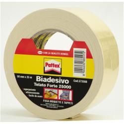 Nastro adesivo Pattex - 25000 nastro biadesivo - 50 mm x 25 m - bianco 715153
