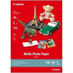 Carta fotografica Canon - Mp-101 - carta fotografica - opaca - 5 fogli - a4 - 170 g/m² 7981a042