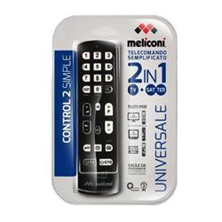 Telecomando Meliconi - Control 2 simple telecomando universale - nero 808033ba