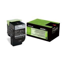 Toner Lexmark - 802sk - nero - originale - cartuccia toner - lccp, lrp 80c2sk0