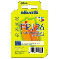 Cartuccia Olivetti - Fpj26 - giallo, ciano, magenta - originale - cartuccia d'inchiostro 84436
