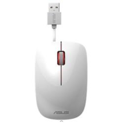 Mouse Asus - Ut300 - mouse - usb - bianco, rosso 90xb0460-bmu020