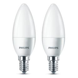 Lampadine LED Philips - Oliva E14, 5.5W, 2 pezzi