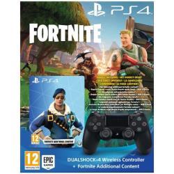 Controller Sony - PS4 Dualshock 4 Wireless Black + Voucher Fortnite