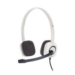 Cuffie con microfono Logitech - Stereo Headset H150 White