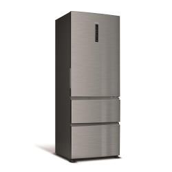 Réfrigérateur Haier A3FE742CMJ - Réfrigérateur/congélateur - pose libre - largeur : 70 cm - profondeur : 68 cm - hauteur : 190 cm - 436 litres - congélateur bas - Classe A++ - inox/aluminium