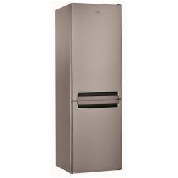 Réfrigérateur Whirlpool BSNF 8121 OX - Réfrigérateur/congélateur - pose libre - largeur : 59.5 cm - profondeur : 65.5 cm - hauteur : 188.5 cm - 316 litres - congélateur bas - classe A+ - inox
