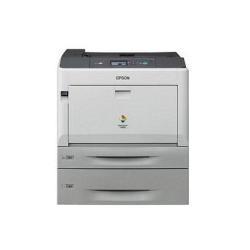 Imprimante laser Epson AcuLaser C9300DTN - Imprimante - couleur - Recto-verso - laser - A3/Ledger - 1200 ppp - jusqu'à 30 ppm (mono) / jusqu'à 30 ppm (couleur) - capacité : 955 feuilles - USB, Gigabit LAN