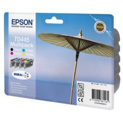 Cartuccia Epson - Multipack t0445 - confezione da 4 - nero, giallo, ciano, magenta c13t04454010