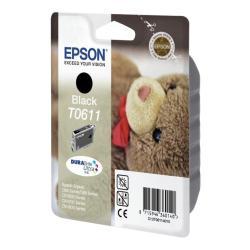 Cartuccia Epson - T0611 - nero - originale - cartuccia d'inchiostro c13t06114010
