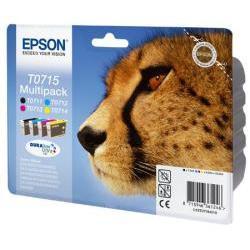 Cartuccia Epson - T0715 multipack - confezione da 4 - nero, giallo, ciano, magenta c13t07154022
