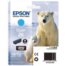 Cartuccia Epson - 26 - ciano - originale - cartuccia d'inchiostro c13t26124010