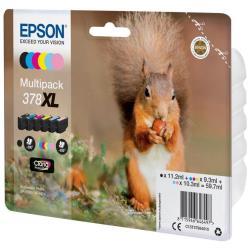 Cartuccia Epson - 378xl multipack - confezione da 6 - xl c13t37984010
