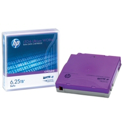 Supporto storage Hewlett Packard Enterprise - Hp lto-6 ultrium 6.25 tb bafe worm