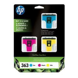 Cartuccia HP - 363 3-pack - confezione da 3 - giallo, ciano, magenta - originale cb333ee#301