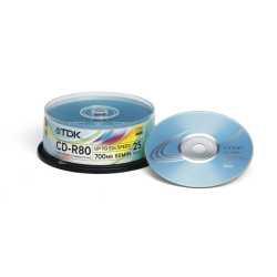 CD TDK - Cd-r x 25 - 700 mb - supporti di memorizzazione t18767
