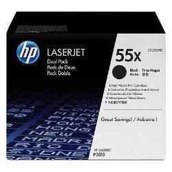 Cartuccia HP - 55x - confezione da 2 - alta resa - nero - originale - laserjet ce255xd