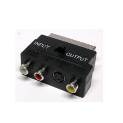 Adattatore Nilox - Adattatore video / audio - s-video / composite video / audio cma15550