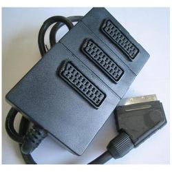 Multipresa filtrata Nilox - Selettore video/audio - 3 porte cma15560