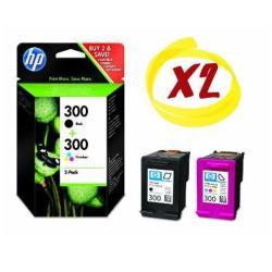 Cartuccia HP - 300 - confezione da 2 - nero, colore (ciano, magenta, giallo) cn637ee#301
