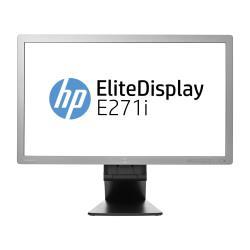 "Écran LED HP EliteDisplay E271i - Écran LED - 27"" (27"" visualisable) - 1920 x 1080 Full HD (1080p) - IPS - 250 cd/m² - 1000:1 - 7 ms - DVI-D, VGA, DisplayPort - noir"