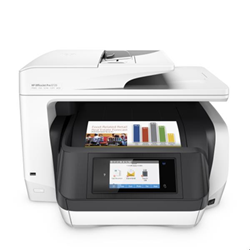 Imprimante  jet d'encre multifonction HP Officejet Pro 8730 All-in-One - Imprimante multifonctions - couleur - jet d'encre - Legal (216 x 356 mm) (original) - A4/Legal (support) - jusqu'à 37 ppm (copie) - jusqu'à 36 ppm (impression) - 250 feuilles - USB 2.0, LAN, Wi-Fi(n), hôte USB, NFC