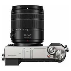 Appareil photo Panasonic Lumix G DMC-GX80H - Appareil photo numérique - sans miroir - 16.0 MP - Quatre tiers - 4K / 25 pi/s - 10x zoom optique objectif 14-140 mm - Wi-Fi - argenté(e)