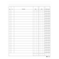 Modulistica EdiPro - Registro debito/credito/saldo - 100 pagine - 170 x 240 mm e2689