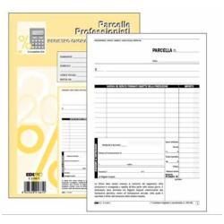 Modulistica EdiPro - Blocco fattura professionale - 50 fogli - 148 x 220 mm e5266a