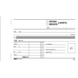 Modulistica EdiPro - Blocco ricevuta d'affitto - 50 fogli - 170 x 99 mm - duplicato e5504c