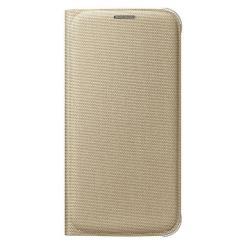 Custodia Samsung - FLIP WALLET GOLD S6 FABRIC