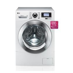 Lave-linge LG 6 Motion Direct Drive F1495BDA - Machine à laver - pose libre - largeur : 60 cm - profondeur : 64 cm - hauteur : 85 cm - chargement frontal - 77 litres - 12 kg - 1400 tours/min - blanc