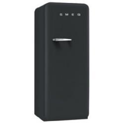 Réfrigérateur Smeg '50 FAB28RBV3 - Réfrigérateur avec compartiment freezer - pose libre - largeur : 60 cm - profondeur : 73.2 cm - hauteur : 151 cm - 248 litres - Classe A++ - noir velours