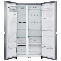 Réfrigérateur LG GSL760PZXV - Réfrigérateur/congélateur - pose libre - largeur : 91.2 cm - profondeur : 73.8 cm - hauteur : 179 cm - 601 litres - côte-à-côte avec Distributeur d'eau et de glaçons - classe A+ - inox supérieur