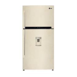 Réfrigérateur LG GTF925SEPM - Réfrigérateur/congélateur - pose libre - largeur : 86 cm - profondeur : 73 cm - hauteur : 178 cm - 570 litres - congélateur haut avec distributeur d'eau - Classe A++ -40% - sable