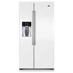 Réfrigérateur Haier HRF-628IW6 - Réfrigérateur/congélateur - pose libre - largeur : 90.8 cm - profondeur : 69 cm - hauteur : 179 cm - 550 litres - Américain avec Distributeur d'eau et de glaçons - classe A+ - blanc brillant