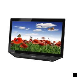 """Écran LED HANNS.G HT231HPB - HT Series - écran LED - 23"""" - écran tactile - 1920 x 1080 Full HD (1080p) - 250 cd/m² - 1000:1 - 5 ms - HDMI, DVI-D, VGA - haut-parleurs - texture noire, argent brillant"""