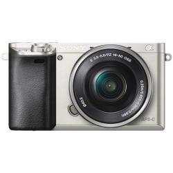 Appareil photo Sony a6000 ILCE-6000L - Appareil photo numérique - sans miroir - 24.3 MP - APS-C - 3x zoom optique objectif 16-50 mm - Wi-Fi, NFC - argenté(e)