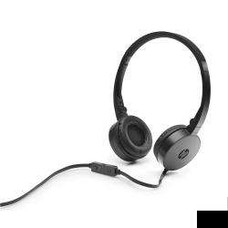 HP H2800 - Casque avec micro - sur-oreille - jack 3,5mm - noir - pour Slimline; Spectre x360; x360