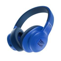 JBL E55BT - Casque avec micro - pleine taille - sans fil - Bluetooth - bleu