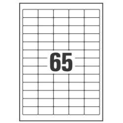 Etichette Etichette 1625 pezzi 21.2 x 38.1 mm l7551 25
