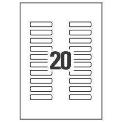 Etichette Clear mini label - etichette - 500 etichette - 55 x 12.2 mm l7552-25