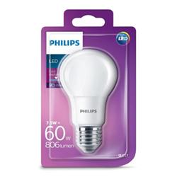 Lampadina LED Philips - Goccia E27, 60W, 6500K