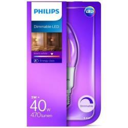 Lampadina LED Philips - Classic Oliva E14, 40W, 2700K