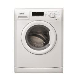 Lave-linge Ignis LEI 1270 - Machine à laver - pose libre - largeur : 59.5 cm - profondeur : 56.5 cm - hauteur : 85 cm - chargement frontal - 52 litres - 7 kg - 1200 tours/min - blanc