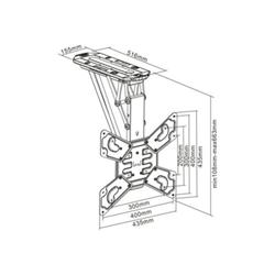 Nilox - Multibrackets - montaggio a soffitto (motorizzato) mb1028