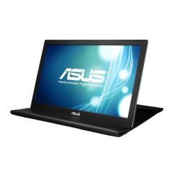 """Écran LED ASUS MB168B - Écran LED - 15.6"""" (15.6"""" visualisable) - portable - 1366 x 768 - TN - 200 cd/m² - 11 ms - USB - Noir/argent"""